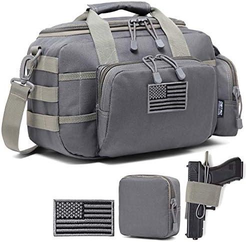 DBTAC Gun Range Bag Small Tactical 2X Pistol Shooting Range Duffle Bag with Lockable Zipper product image