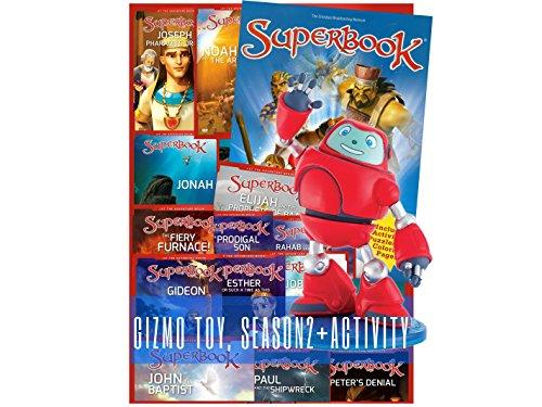 Superbook Gizmo Figurine, Season 2 Full Set (13 Episodes) + Activity Book