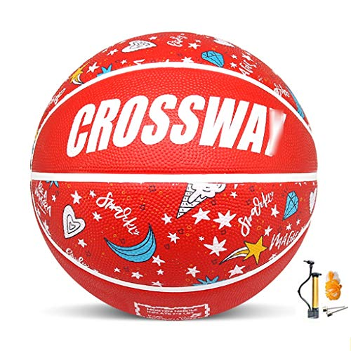 For Sale! YE ZI Basketballs- Children's Rubber wear-Resistant Basketball NO.3-4-5-6-7 Indoor and Out...