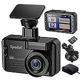 Spedal Dashcam 1296P 140° Weitwinkel , GPS Dash Cam Blitzerwarner Verkehrsalarm 3 in 1, Smart Autokamera G Sensor Loop Aufnahme + GPS Tempolimits Daten + MicroSD Karte + Sprachalarm