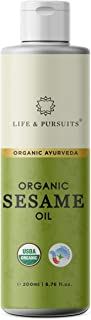 Life & Pursuits USDA Certified 100% Cold-pressed Organic Black Sesame Oil For Hair & Skin (6.76 fl. oz / 200ml)