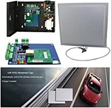 Single Way 49-65ft Long Distance UHF RFID Card Reader Windshield Tag Car Parking Systems Access Control Kits with Control Panel+110V Power Box