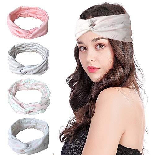 Vellette Mujer Cinta de cabeza Turbantes Venda De Pelo Elástica Cinta Para El Pelo Accesorio Para Cabeza