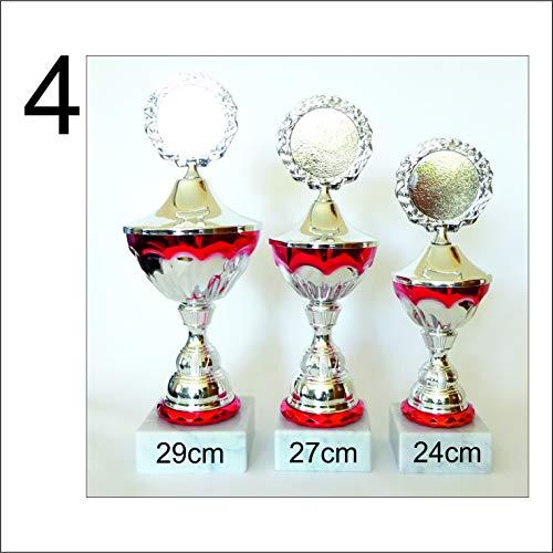 JSSC Neugart GmbH Pokalserie, 3-serie, bokaal met wensgravure voor voetbal, tennis, poker, skat, dart, basketbal