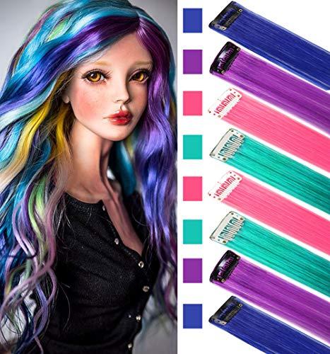 Peluca postizos niños Extensiones cabello colores