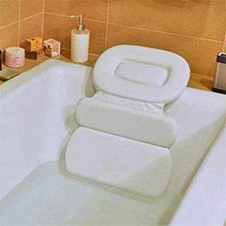 KUNXIAOY Bath Pillow 3-Panel Design with Powerful Suction Cups for Nonslip Grip Fits Any Size Tub, Jacuzzi, Spas, for Shoulder, Neck Support