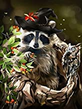 Paintings Evershine Diamond Painting Raccoon Full Square Animals Pictures of Rhinestones Mosaic Crafts Home Decor LZHCUICA...