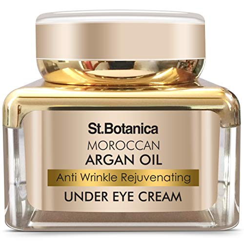 StBotanica Moroccan Argan Oil Anti Wrinkle Rejuvenating Under Eye Cream, 30g - Fights Skin Aging, Fine Lines and Dark Circles
