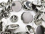 ファイニエ 蝶タック シルバー ミール皿 台座付き 20組 キャッチ付き ピンズ タックピン ピンバッジ 金具 貼付用 AP1157