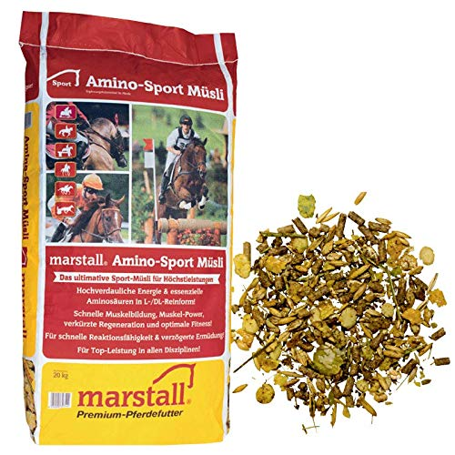 marstall Premium-Pferdefutter Amino-Sport Müsli, 1er Pack (1 x 20 kilograms)