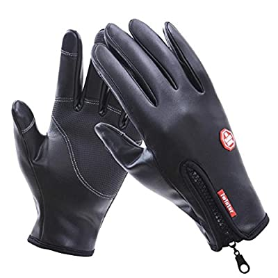 LvLoFit Touch Screen Available Winter Gloves Waterproof Thermal Fleece Windstopper for Running Cycling Hiking Working 3 Size for Men Women