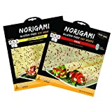 Norigami Non-GMO Gluten-Free Soy Wraps Sesame Seeds and Soy Wraps Chili (6 Wraps Per Pack), Low Carbs, High Protein, Vegetarian, Ready To Fill And Serve Wraps, Thin And Healthy Wraps (2 Packs)