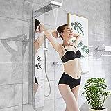 Columna de ducha de acero inoxidable, sistema de ducha de panel con chorros de...