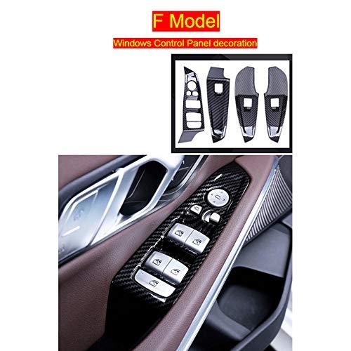 DHFBS Auto Styling Koolstofvezel Dashboard Radiator Kilometerteller Decoratie Cover Trim Sticker, Voor BMW 3 Serie G20 G28 Interieur Accessoires