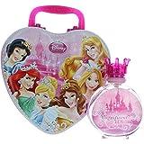 Disney Princess//Set de regalo: Corazón de Princesas Maletín de metal + Eau de Toilette (Parfum) Spray 100ml–para niños