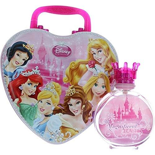 Air Val Disney Princess und Prinzessinnen Geschenk-Set, 1er Pack (Herz-Metallkoffer, Eau de Toilette Spray 100ml)