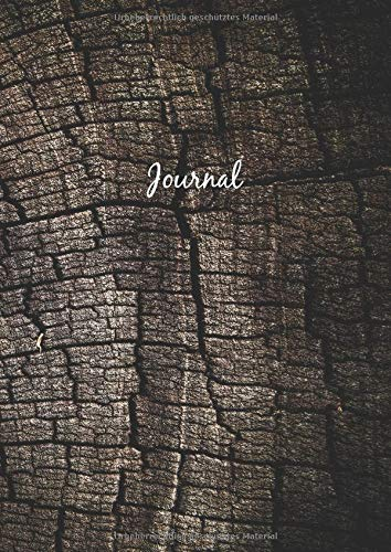 Dot Grid Journal - A4 Notizbuch: Blanko Heft Für Bullet Journaling | Dotted Notebook | 110 Punktraster Seiten | Soft Cover | Holz Optik
