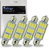 Safego 4 x C5W 42 MM LED 5730 9SMD Voiture Ampoule toit 211-2 578 212-2 ODB Plafonnie la lumière de plaque...