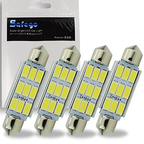 Safego 4 x 42mm LED Canbus 9SMD 5730 Luz Interior de Coche