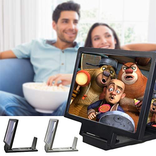 KONGZIR Magnificador de Pantalla 3D de Universal Mobile Telephone Pantalla Lupa Amplificador de Soporte de Soporte de vídeo de Alta definición expansión térmica de
