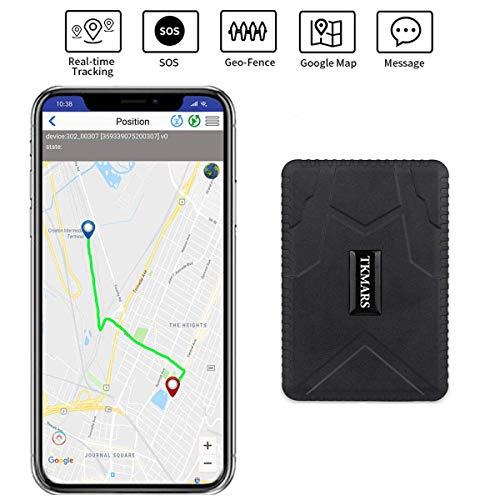 GPS Tracker, Auto Fahrzeug GPS Tracking Echtzeit-Tracking GPS Ortung starker Magnet GPS Tracker 120 Tage lange Standby GPS Locator für kostenlose App Web & SMS-Tracking TK915