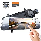 "APEMAN Dash Cam Dual 1080P Front and Rear, 7"" IPS Anti-Glare Touch Screen, Rear View Mirror Backup Camera for Car with Parking Guard, Reversing Assistance"