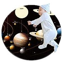 エリアラグ軽量 太陽系(2) フロアマットソフトカーペット直径31.5インチホームリビングダイニングルームベッドルーム