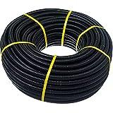 Tubo corrugado 20mm 50m【REFORZADO DE DOBLE CAPA】•【IGNIFUGO】No propagador de llam...