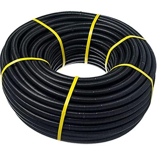 Tubo corrugado 20mm 50m【REFORZADO DE DOBLE CAPA】•【IGNIFUGO】No propagador de llamas • Tubos...