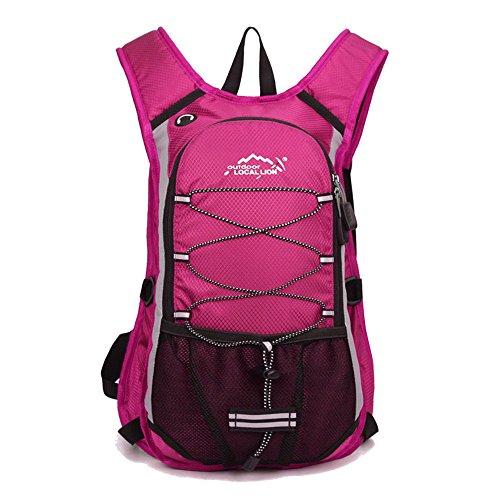 Minetom 12L Leggera Zaino Ciclismo Campeggio Viaggio Backpack Bag Impermeabile Trekking Escursionismo Montagna Alpinismo Rosa Version B(24*7*44 Cm)