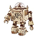 Robotime 立体パズル 木製パズル 音楽ボックス DIYオルゴール クラフト プレゼント おもちゃ オモチャ 知育玩具 男の子 女の子 大人 入園祝い 新年 ギフト 誕生日 クリスマス プレゼント 贈り物(ロボット)