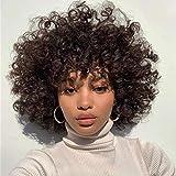 BLISSHAIR parrucca capelli umani ricci colore 2 Parrucca Donna Capelli Veri Afro kinky curly human hair wigs 130% density no lace front wig parrucche capelli veri corti