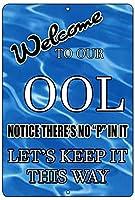 おしっこなしプールOol泳ぐブリキ看板の装飾ヴィンテージ壁金属プラークレトロアイアン絵画カフェバー映画ギフト結婚式誕生日警告