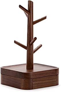 Toiletry Bags Jewelry RackJewelry Stand Solid Wood Jewellery Stand Rack Jewelry Holders Jewelry Display Stand Jewelry Storage Rack (Color : Brown, Size : 4.8 * 14 * 25.7cm)