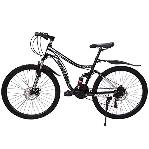 freafre 26in Carbon Steel Mountain Bike 21 Speed MTB Bicycle Full Suspension