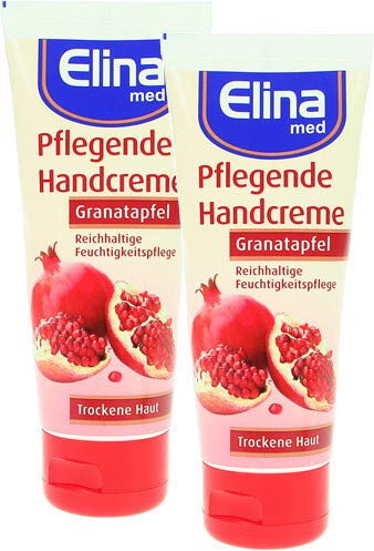 Elina Granatapfel Handcreme 75ml in Tube, 2er Pack