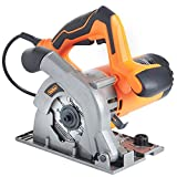 VonHaus 1050W Circular Saw 110mm 240V Multi-Purpose Plunge 28mm with Track Guides Jig Accessory Set – 12,000 RPM