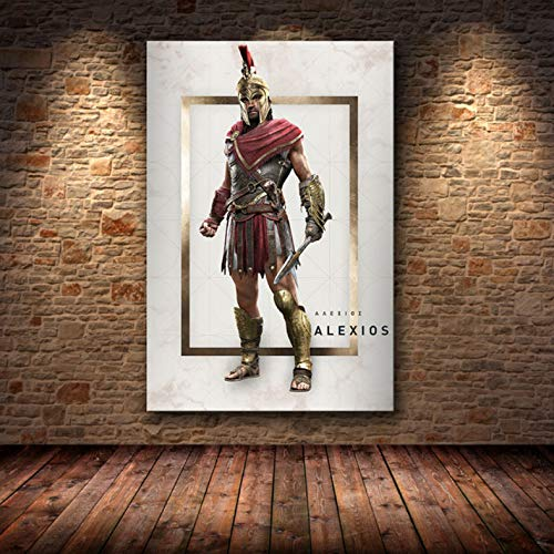 Sin Marco Cuadros 40X50Cm - Assassin'S Creed Odyssey Origen Poster Decoración Pintura sobre Lienzo De Alta Definición Lienzo Pintura Arte Carteles E Impresiones,Wkh-376-1