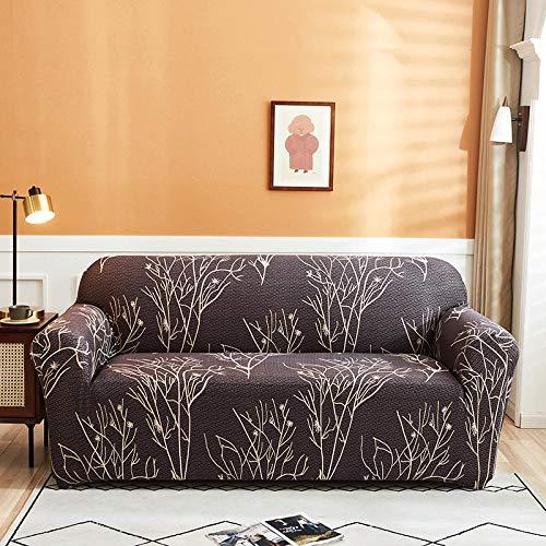 HXTSWGS Fundas Cojines de Sofa,Fundas Protectoras de sofá Impresas, para Sala de Estar Funda elástica elástica, Fundas de sofá de Esquina seccionales-Color 14_2-plazas 145-185cm