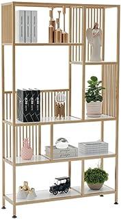 Rack de stockage en acier inoxydable,Rack de stockage Nordic ins vent or étagère moderne bureau minimaliste bibliothèque s...
