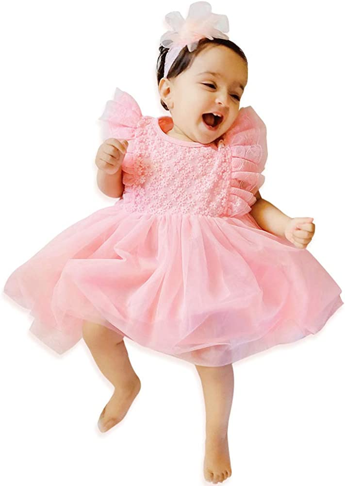 Curipeer Baby Girl Fashionable Christening Dress Classic Infant Baptism Max 55% OFF Wedd