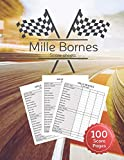 Mille Bornes Score sheet: Scoring Pad For Mille Bornes Players, Score Recording of Keeper Notebook, 100 Sheets, 8.5''x11''