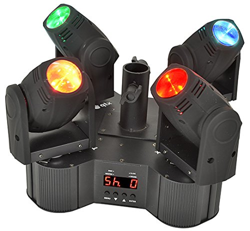 TETRAMER - QUAD-BEAM LED MOVING HEAD SYSTEM, plug and play,16 voorgeprogrammeerde automodi