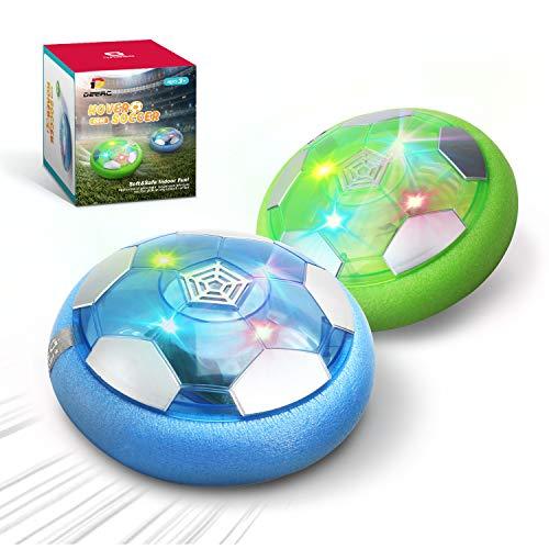 DEERC Kid Toys DE46 Hover Soccer Ball-Set of 2 Rechargeable Air Indoor...