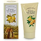 L'Erbolario - Lemon Hand Cream - Quick Absorbing - Smoothens & Softens Hands with a Citrus Scent, Cruelty Free, 2.5 oz