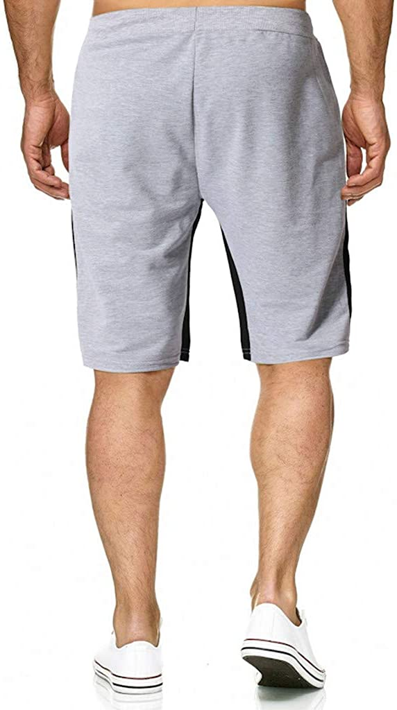 Pervobs Mens Summer Stretchy Soft Shorts Pants Trousers Elastic Waist and Pockets