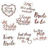 Twister.CK Tattoos für Junggesellenabschiede, Team Bride Rose Gold-Sticker für temporäre Tattoos - 48er-Pack - Hochzeitsnacht- und Junggesellinnenabschieds-Accessoires