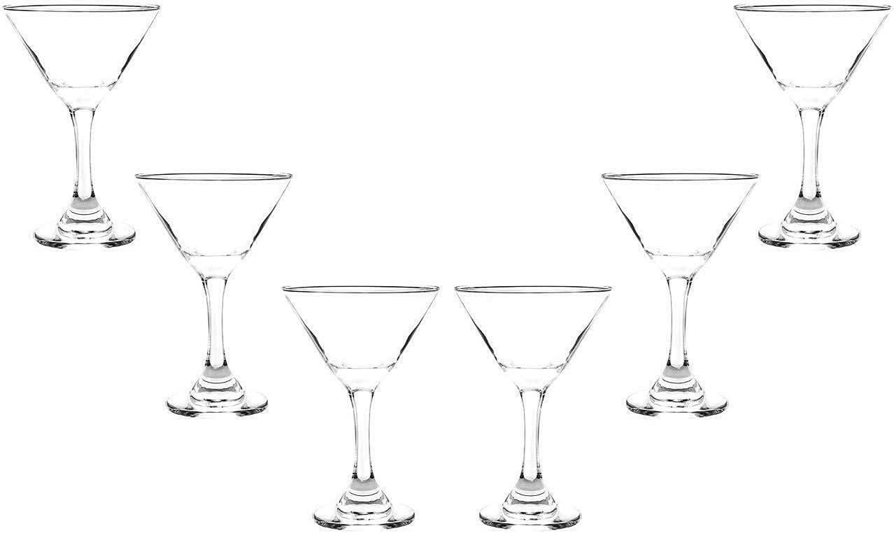 Modern Martini Animer and price revision Stemmed Glasses Set Glassware Oz Crystal Clear Fresno Mall 9