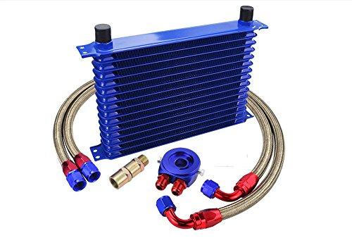 Deltarace Kit radiateur d'huiles universel à 13 rangées, pour voiture et moto