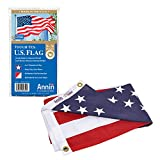 100% MADE in USA: Since 1847- Annin Flagmakers is the largest American manufacturer of US flags Made in our factories in South Boston, VA and Coshocton, OH QUALITY CRAFTSMANSHIP: 50 embroidered stars and 13 sewn white and red stripes; Four rows of lo...